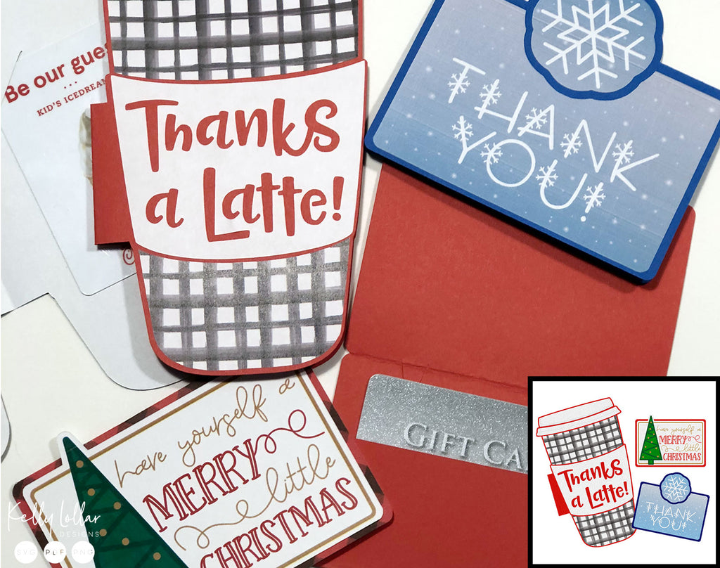 Freebie Friday Holiday Gift Card Holder Print And Cut Files