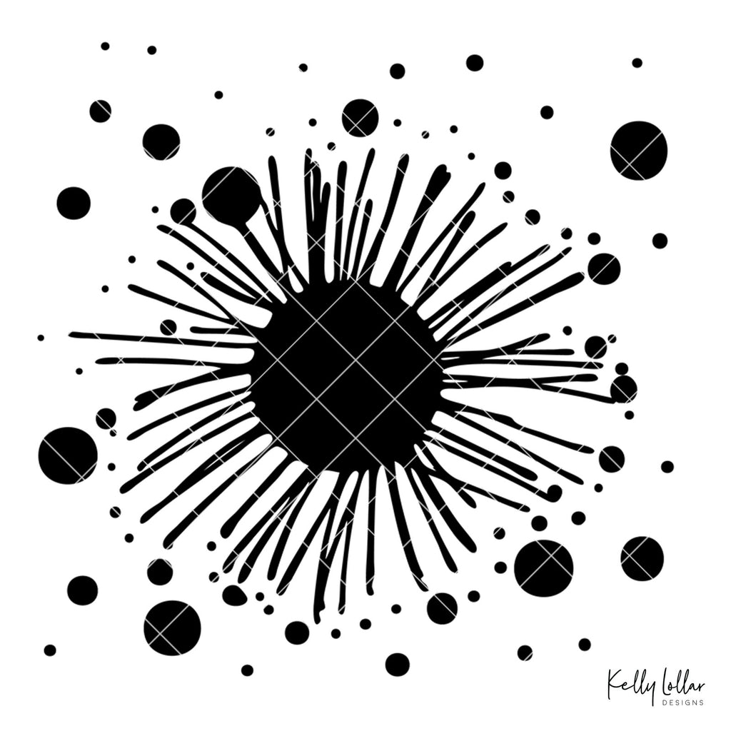 Dots and Lines Flower | SVG DXF PNG Cut Files | Free for Commercial Use