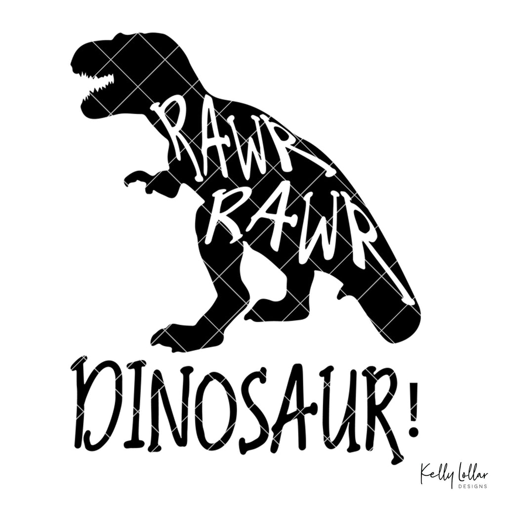 Rawr Rawr Dinosaur | SVG DXF PNG Cut Files | Free for Commercial Use