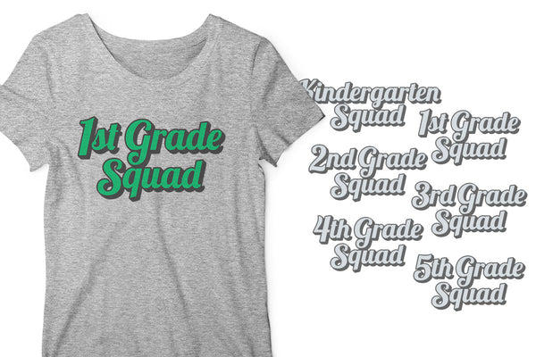 Elementary School Class Squad SVG Designs