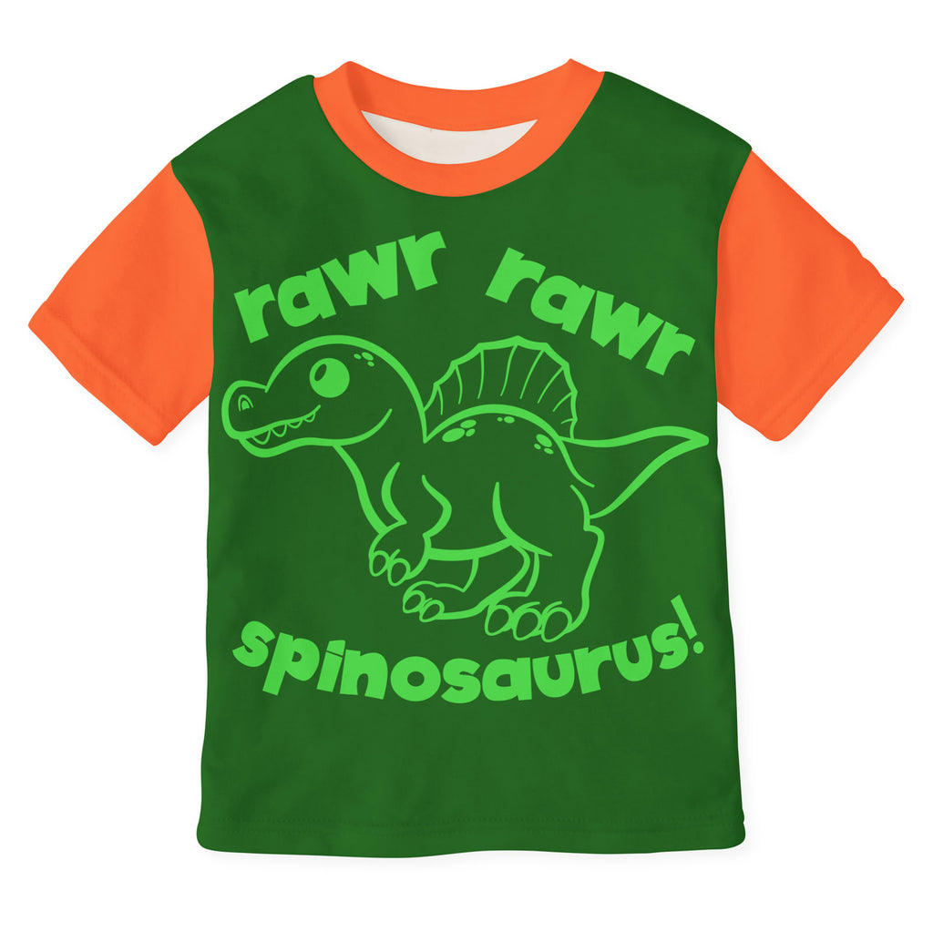 Rawr Rawr Spinosaurus svg cut file on a pajama top