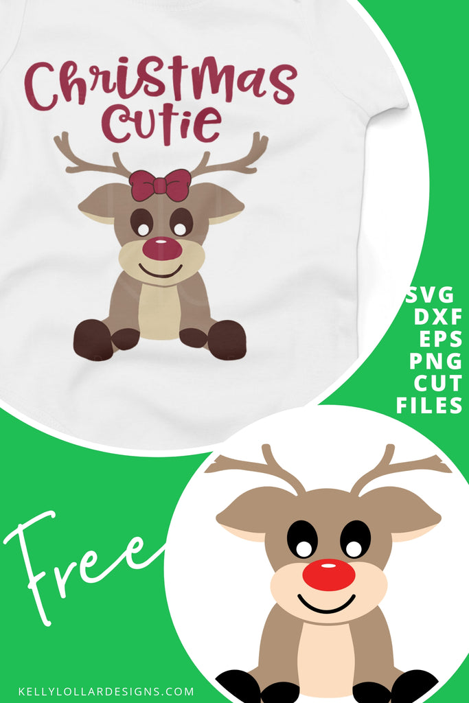 Boy & Girl Reindeer SVG DXF EPS PNG Cut Files | Free for Personal Use