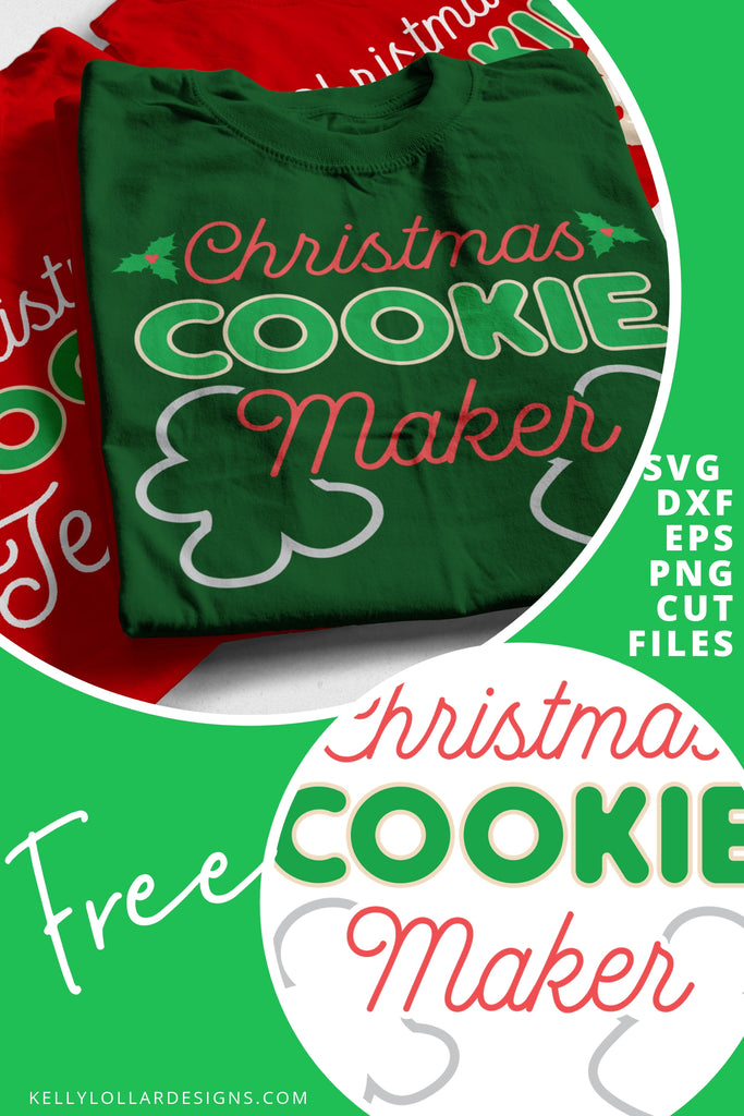 Christmas Cookie Maker & Tester SVG DXF EPS PNG Cut Files | Free for Personal Use