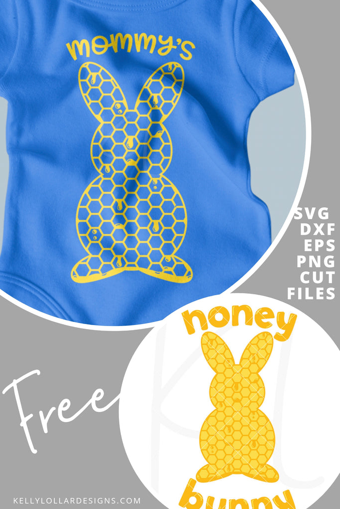 Honey Bunny SVG DXF EPS PNG Cut Files | Free for Personal Use