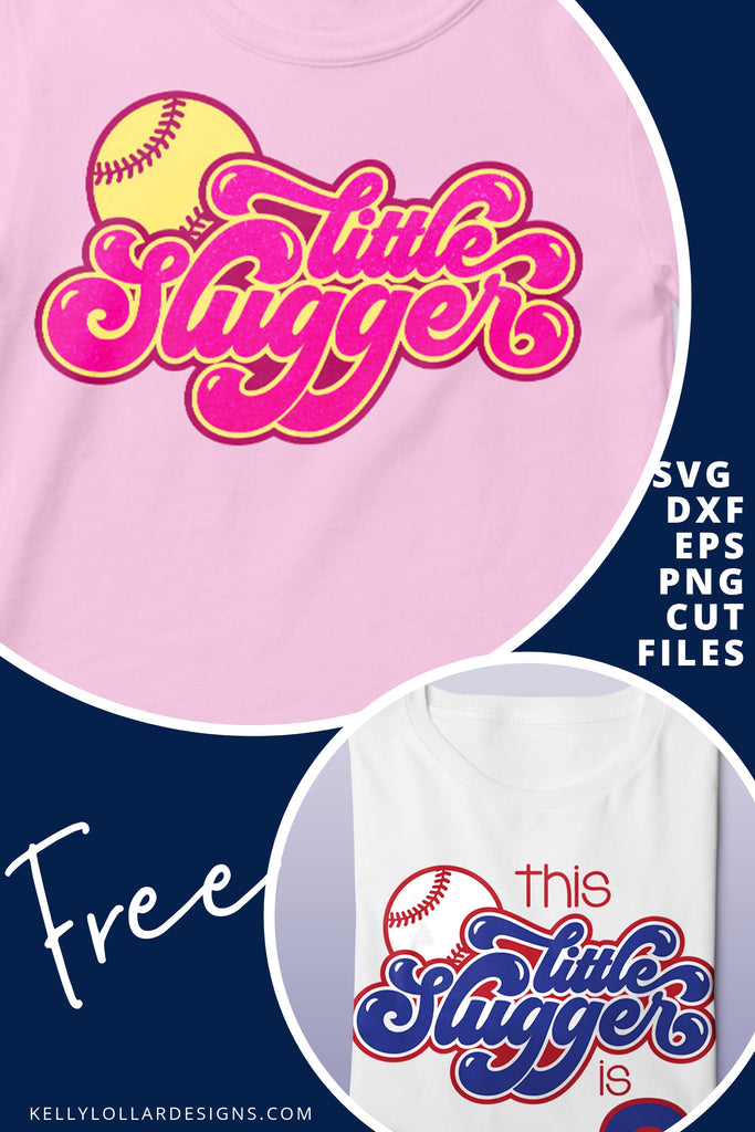 Little Slugger SVG DXF EPS PNG Cut Files | Free for Personal Use
