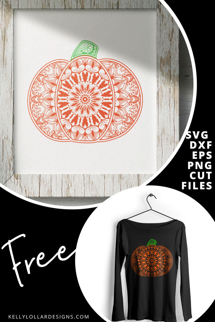 Pumpkin Mandala SVG DXF EPS PNG Cut Files | Free for Personal Use