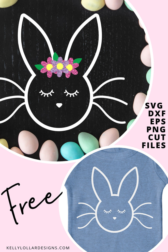 Sleepy Bunny SVG DXF EPS PNG Cut Files | Free for Personal Use