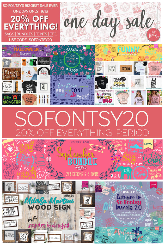 So Fontsy One Day Sale