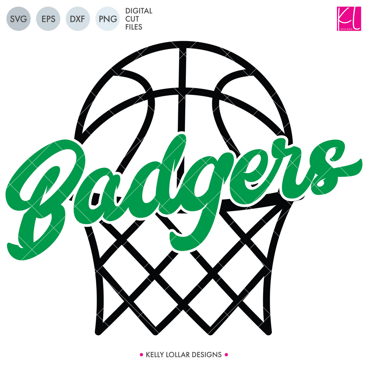 Badgers Basketball Bundle | SVG DXF EPS PNG Cut Files