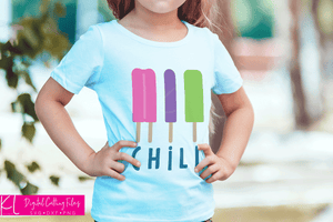 Chill Ice Pop svg file used for a summer girl's shirt