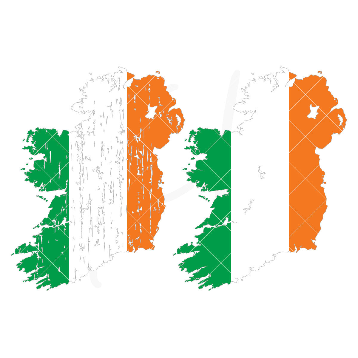 Ireland svg using the flag colors available in plain, distressed or both