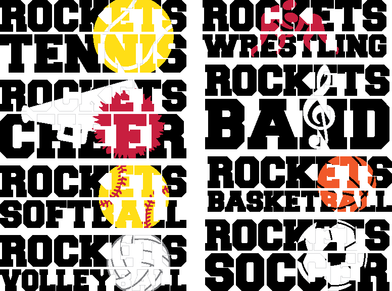 Rockets Everything Spirit Bundle | SVG DXF EPS PNG Cut Files