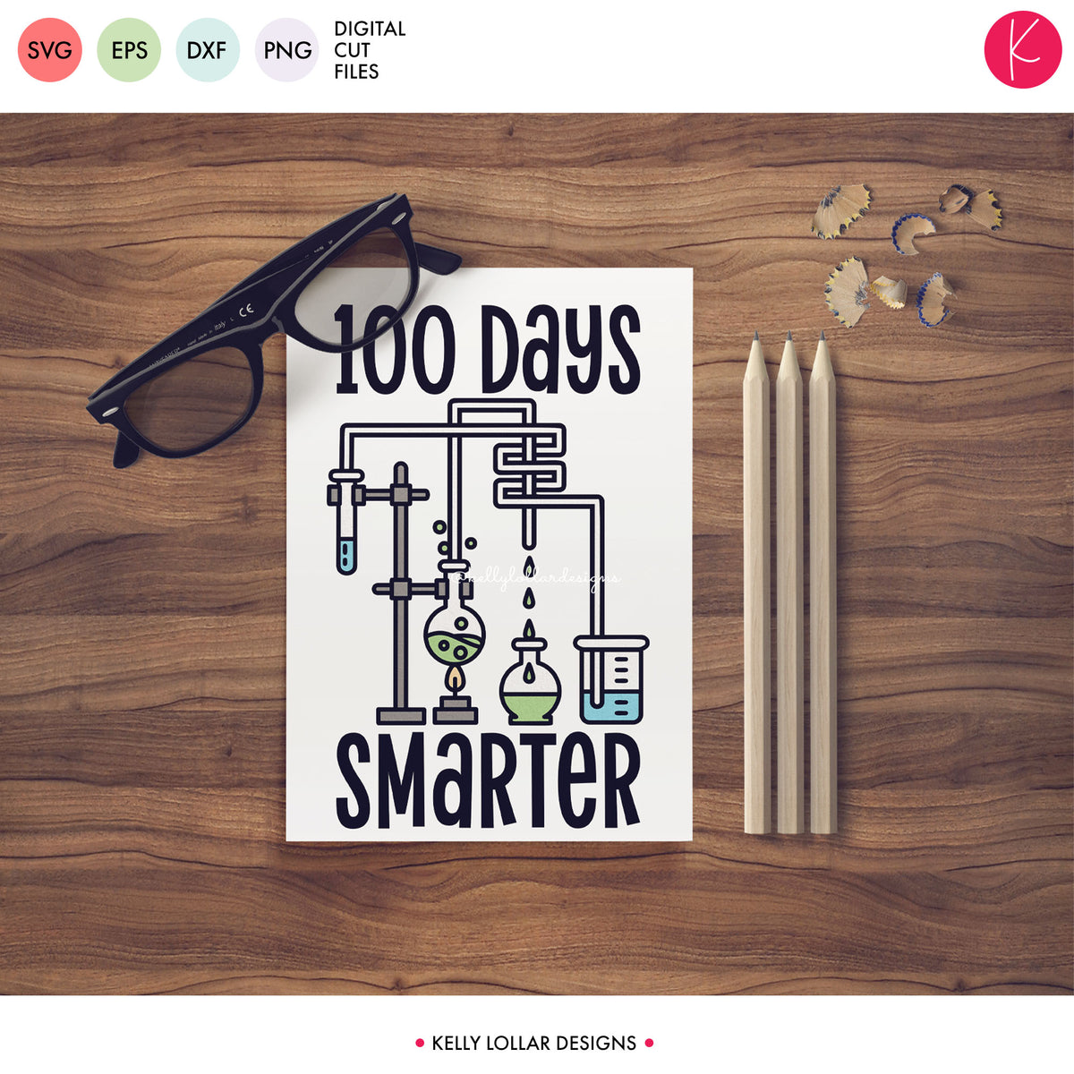 100 Days Smarter | SVG DXF EPS PNG Cut Files