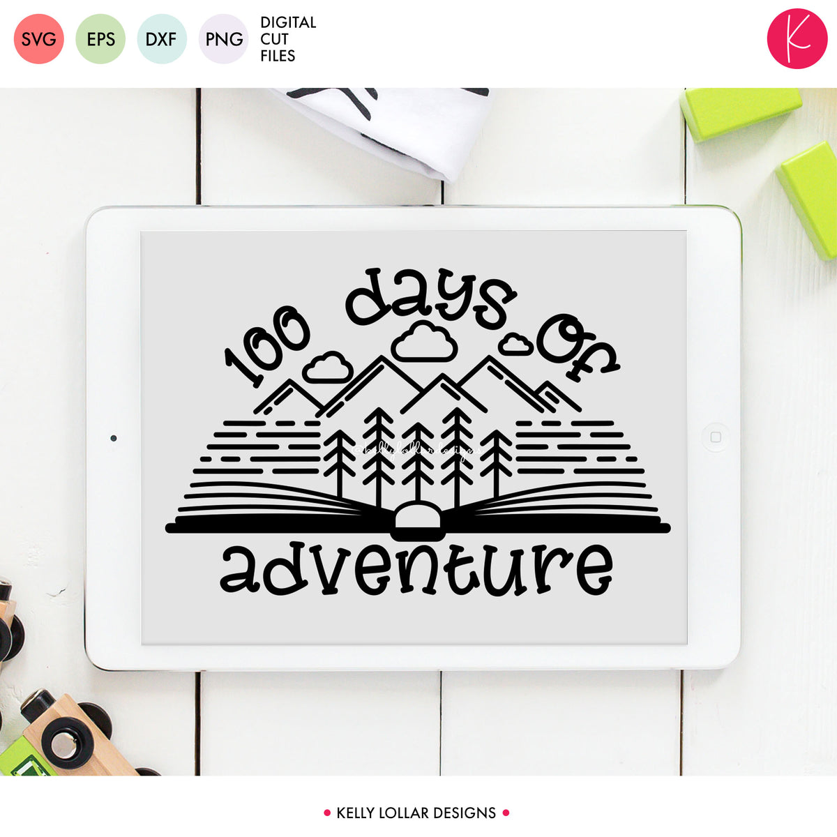 100 Days of Adventure | SVG DXF EPS PNG Cut Files