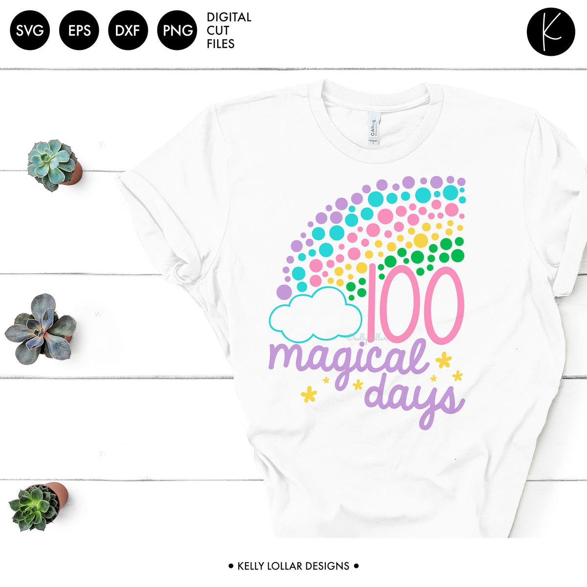 100 Magical Days Rainbow | SVG DXF EPS PNG Cut Files