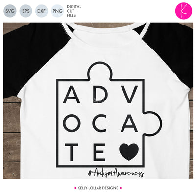 Advocate Puzzle Piece | SVG DXF EPS PNG Cut Files