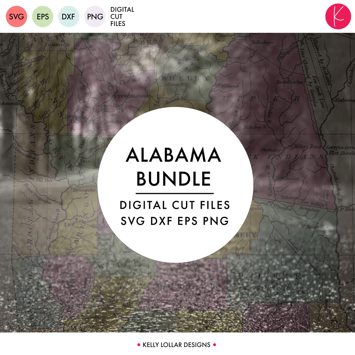 Alabama State Bundle | SVG DXF EPS PNG Cut Files