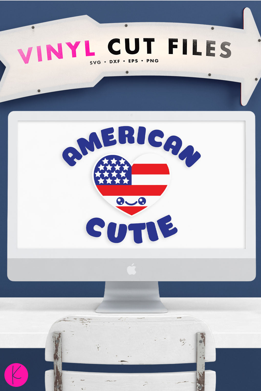 American Cutie | SVG DXF EPS PNG Cut Files