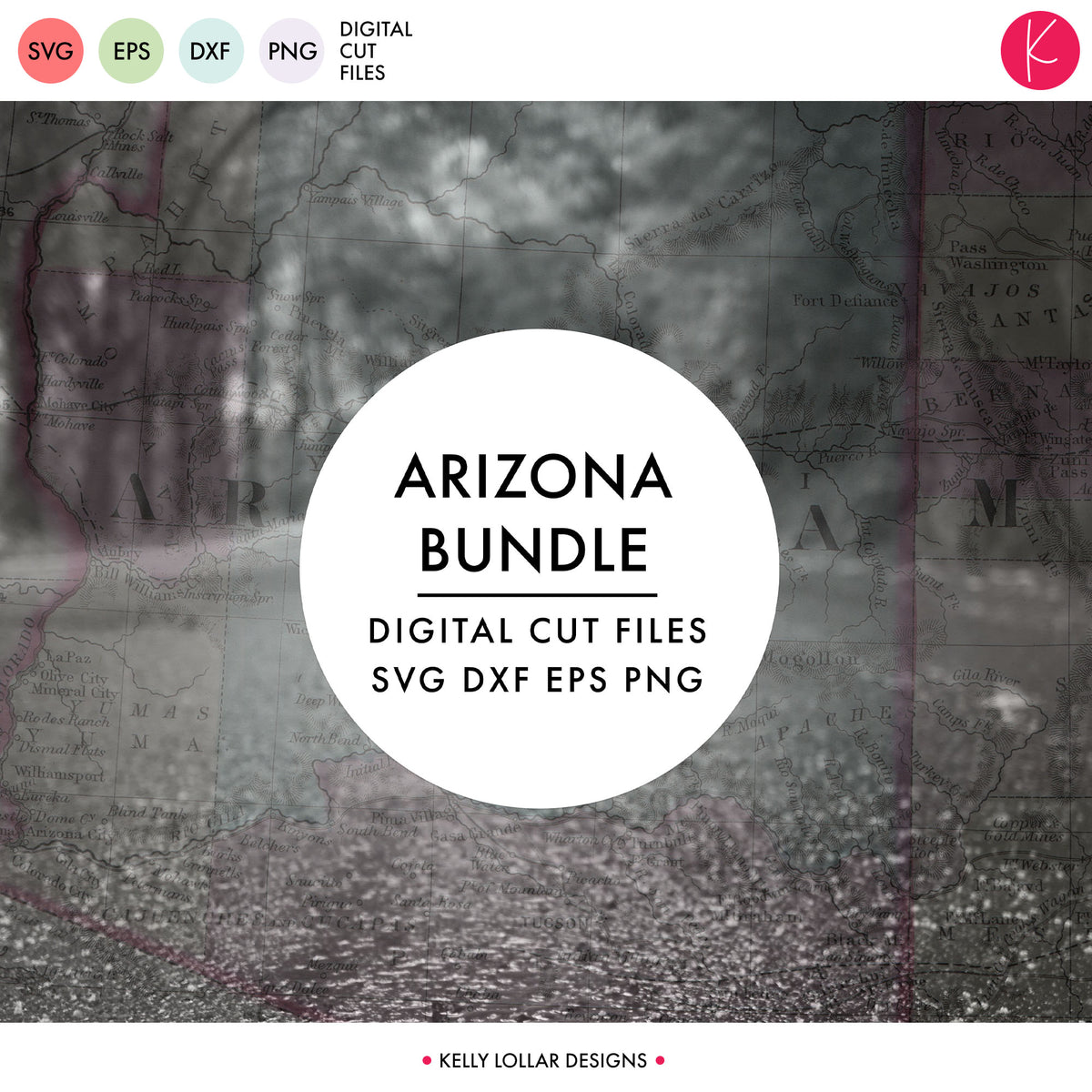 Arizona State Bundle | SVG DXF EPS PNG Cut Files