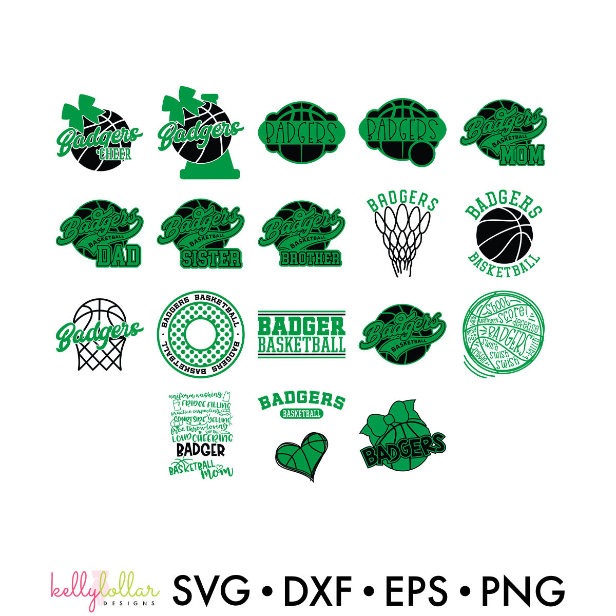 Badgers Everything Spirit Bundle | SVG DXF EPS PNG Cut Files