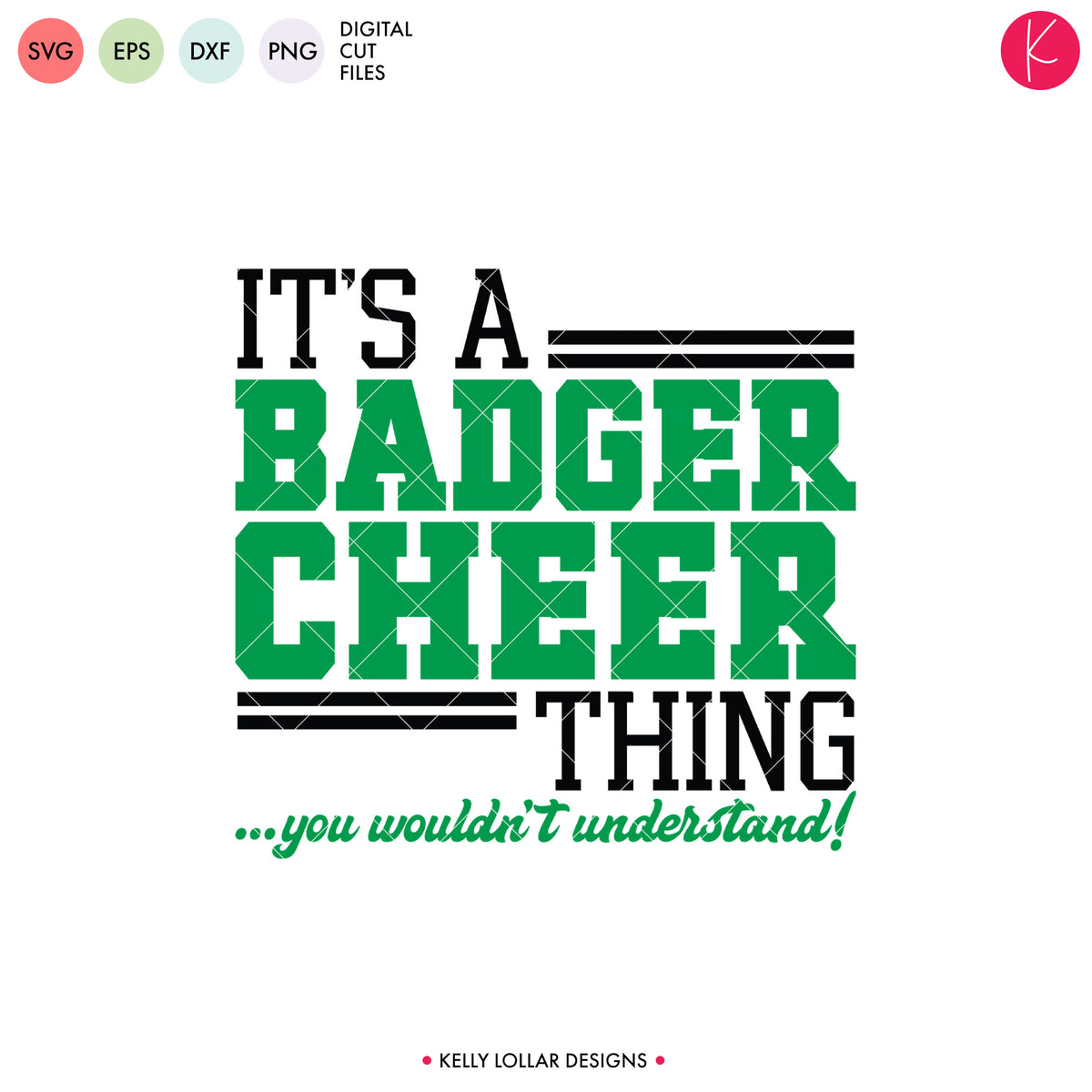 Badgers Cheer Bundle | SVG DXF EPS PNG Cut Files