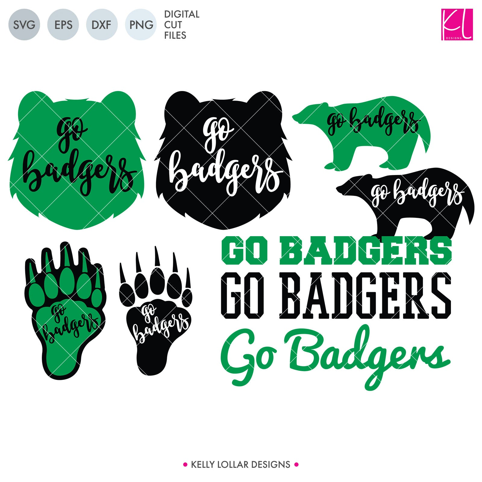 Badgers Mascot Bundle | SVG DXF EPS PNG Cut Files A perfect bundle for Badgers school spirit crafters! This set of 28 designs includes everything from cute and girly to unisex so you'll have a little something for everyone. Includes