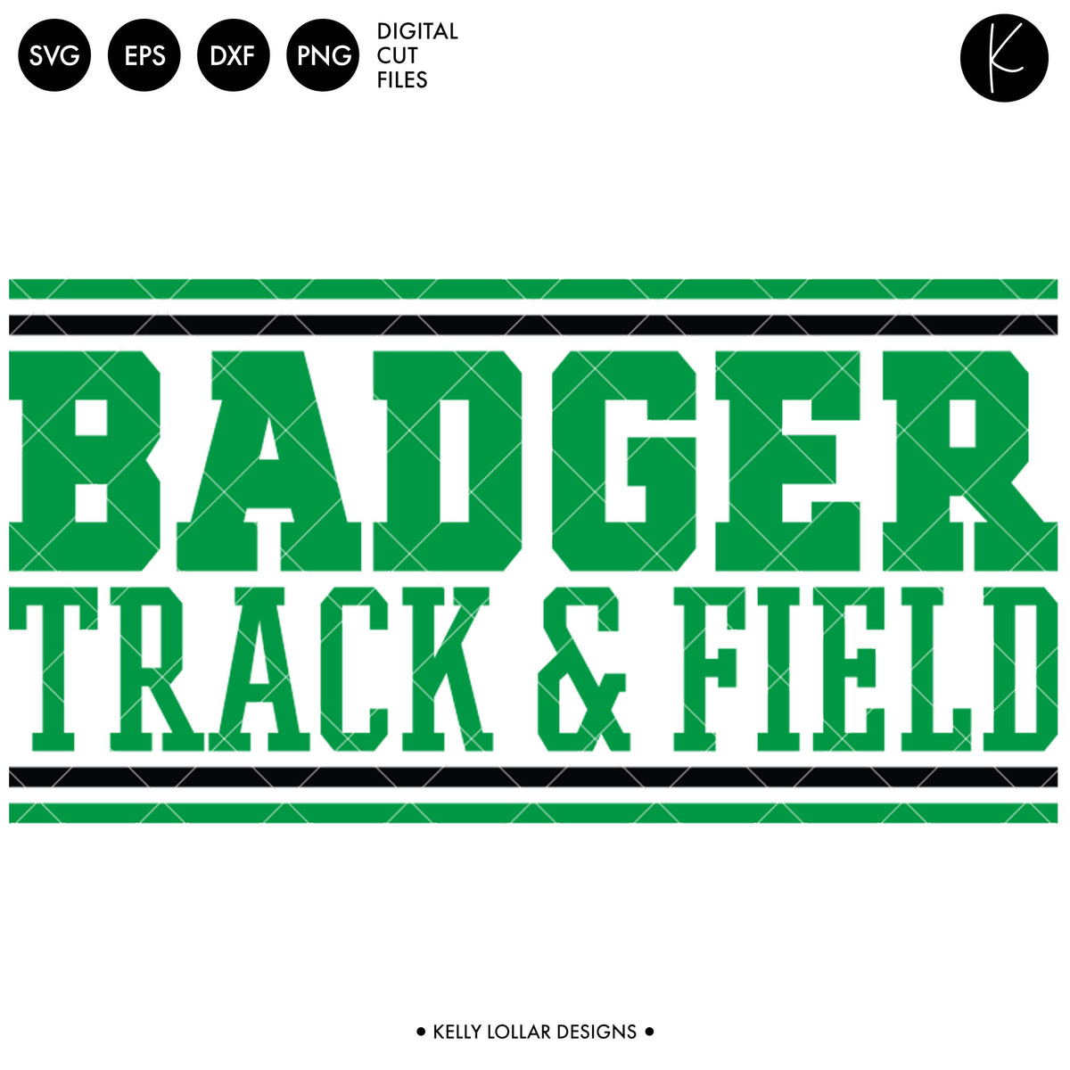 Badgers Track & Field Bundle | SVG DXF EPS PNG Cut Files