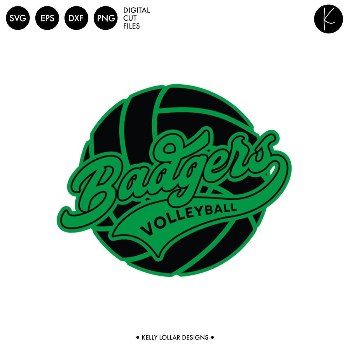 Badgers Volleyball Bundle | SVG DXF EPS PNG Cut Files