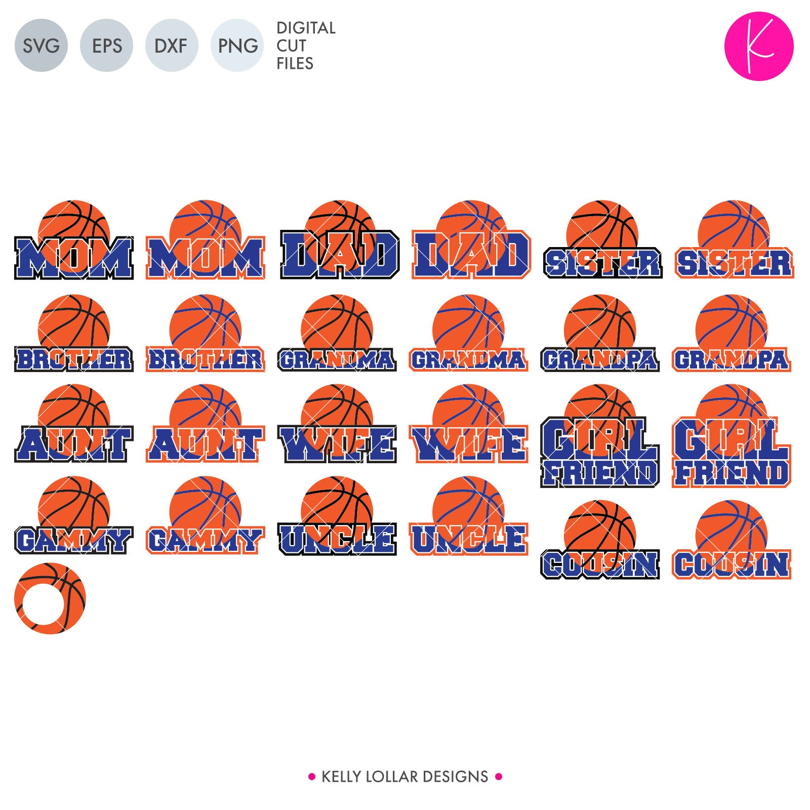 Basketball Family Svg Bundle And Individual Files Kelly Lollar Designs