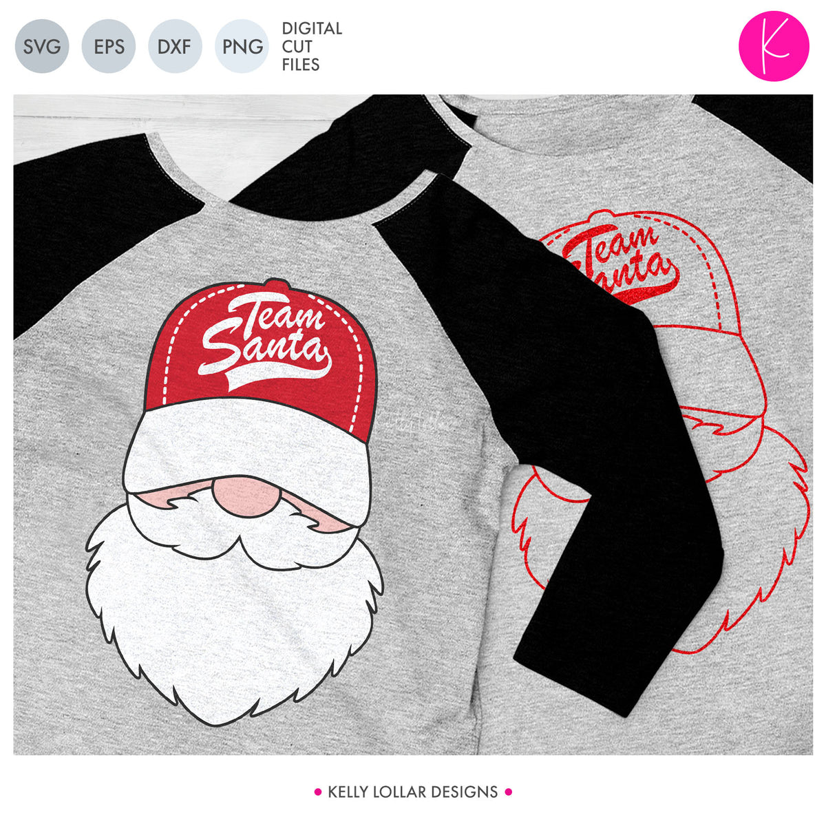 Baseball or Softball Santa Face | SVG DXF EPS PNG Cut Files