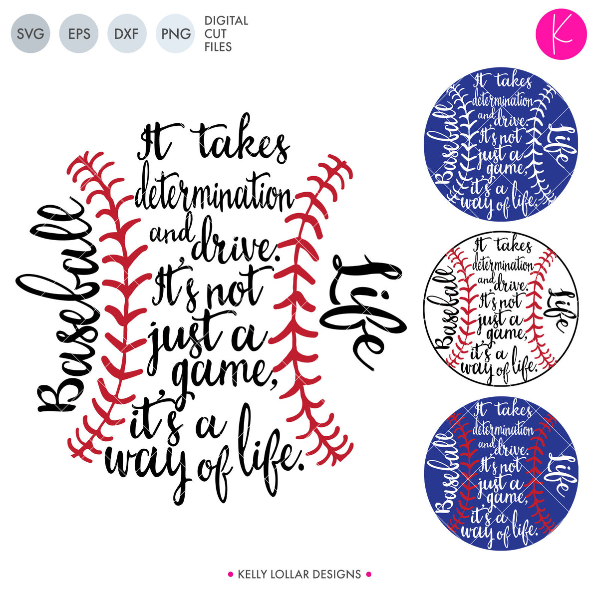 Baseball & Softball Life | SVG DXF EPS PNG Cut Files