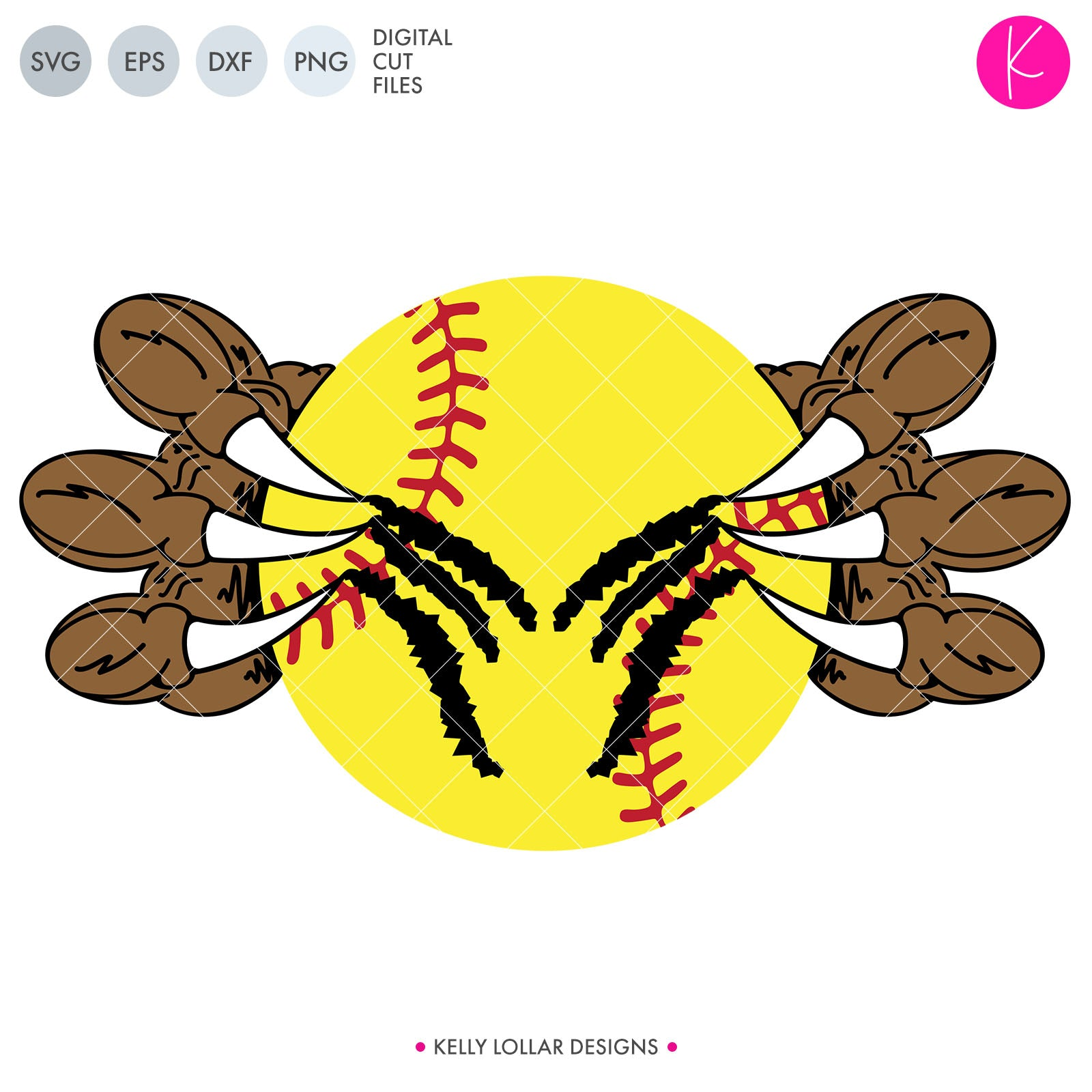 Baseball / Softball Talons | SVG DXF EPS PNG Cut Files