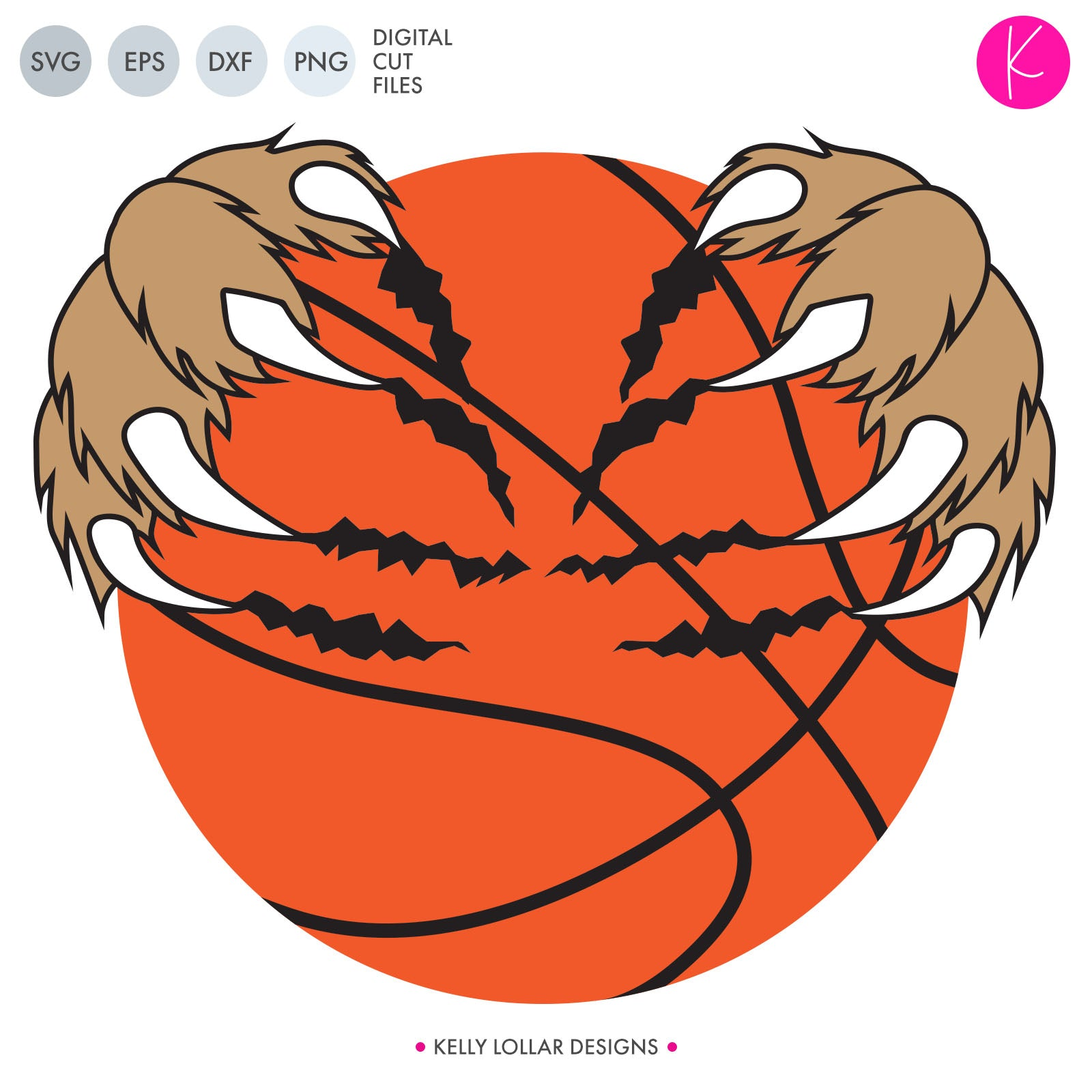 Basketball with Claws | SVG DXF EPS PNG Cut Files