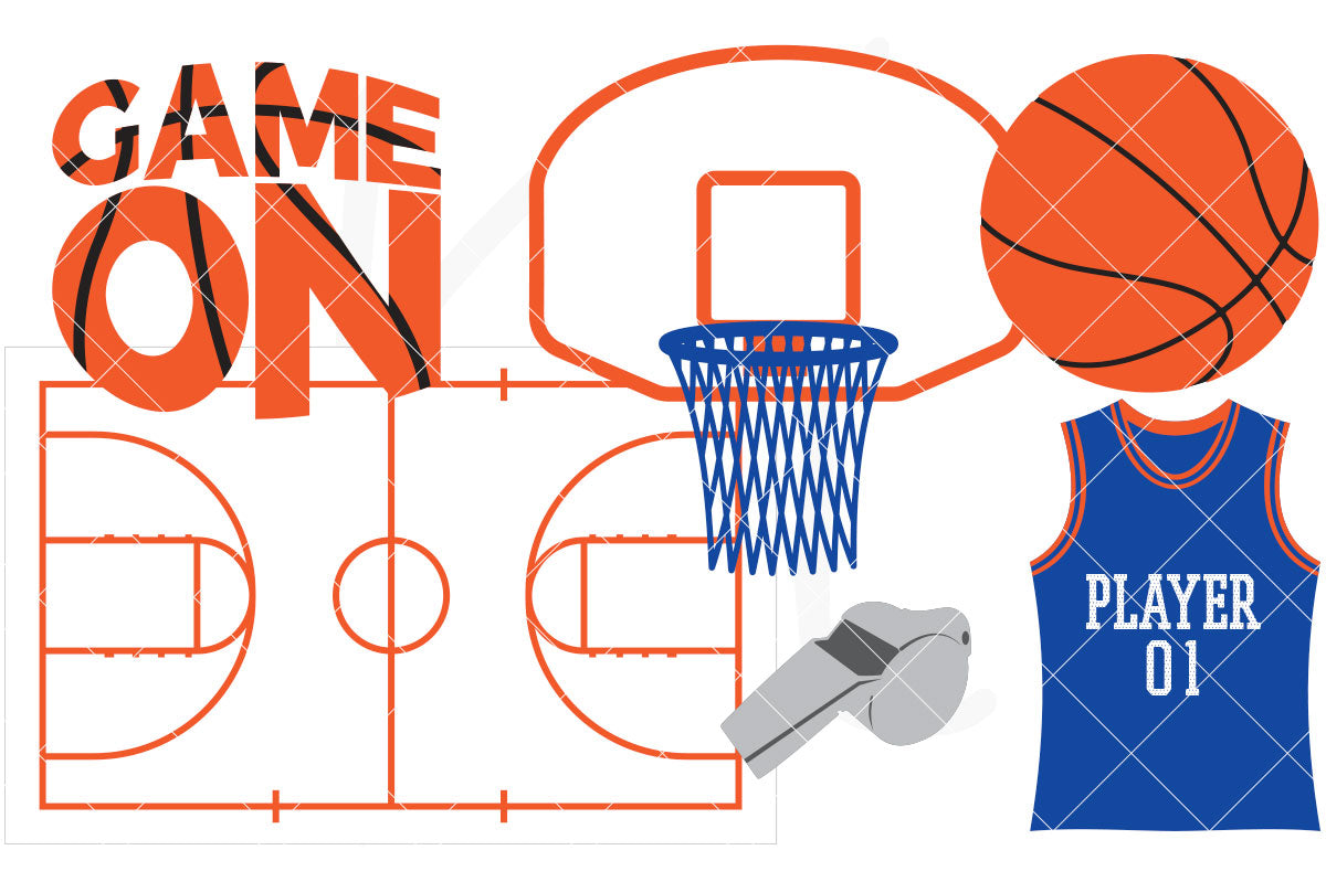 Collection of basketball svg files to add to your next sports project. Designed for both vinyl and paper crafts to celebrate your player