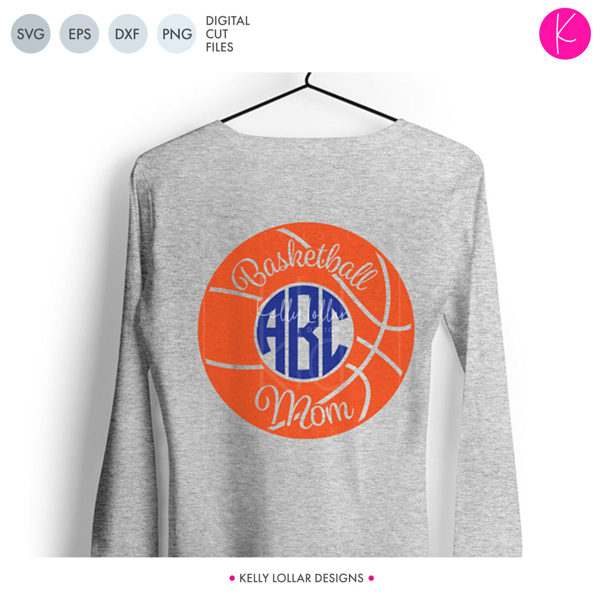 Basketball Mom Monogram | SVG DXF EPS PNG Cut Files