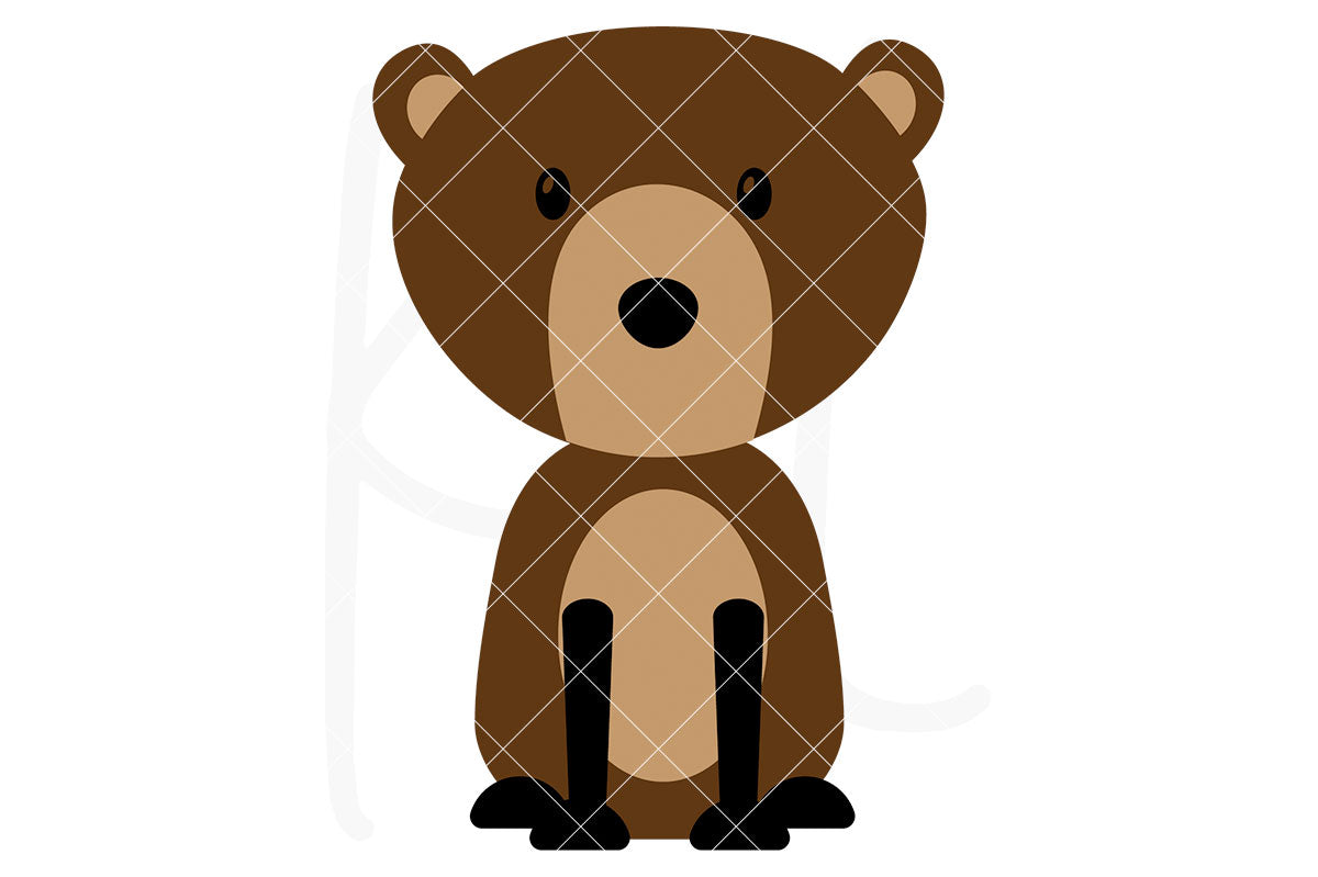 Bear svg file with 3 layers - also part of the Woodland Animal svg bundle