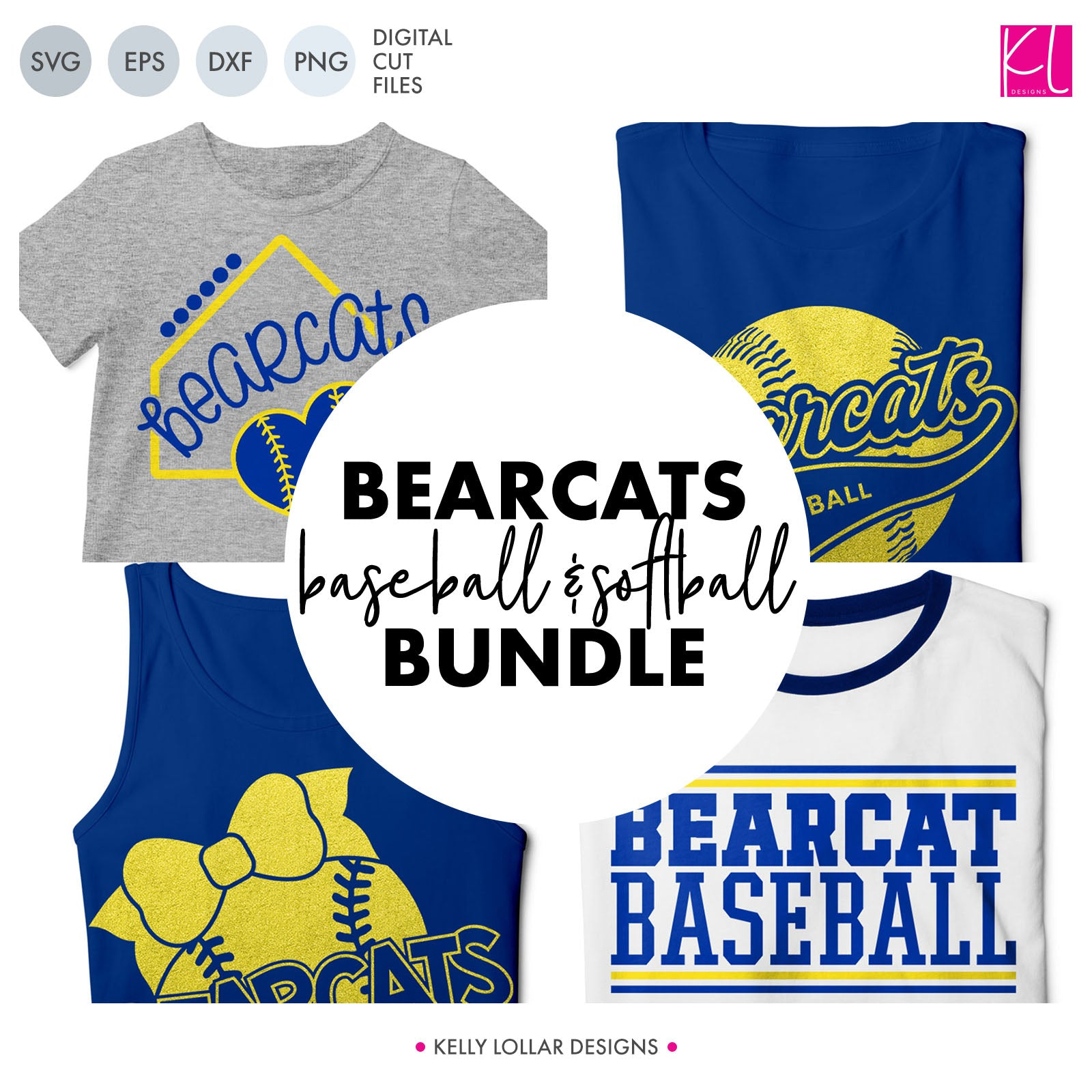 Bearcats Baseball & Softball Bundle | SVG DXF EPS PNG Cut Files It's baseball and softball season, so Bearcat crafter know what that means ... new spirit shirts! This fifteen-piece bundle includes a little something for everyone - from girly and cute
