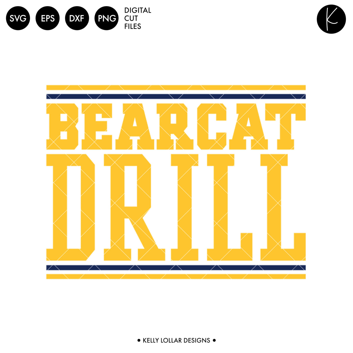 Bearcats Drill Bundle | SVG DXF EPS PNG Cut Files