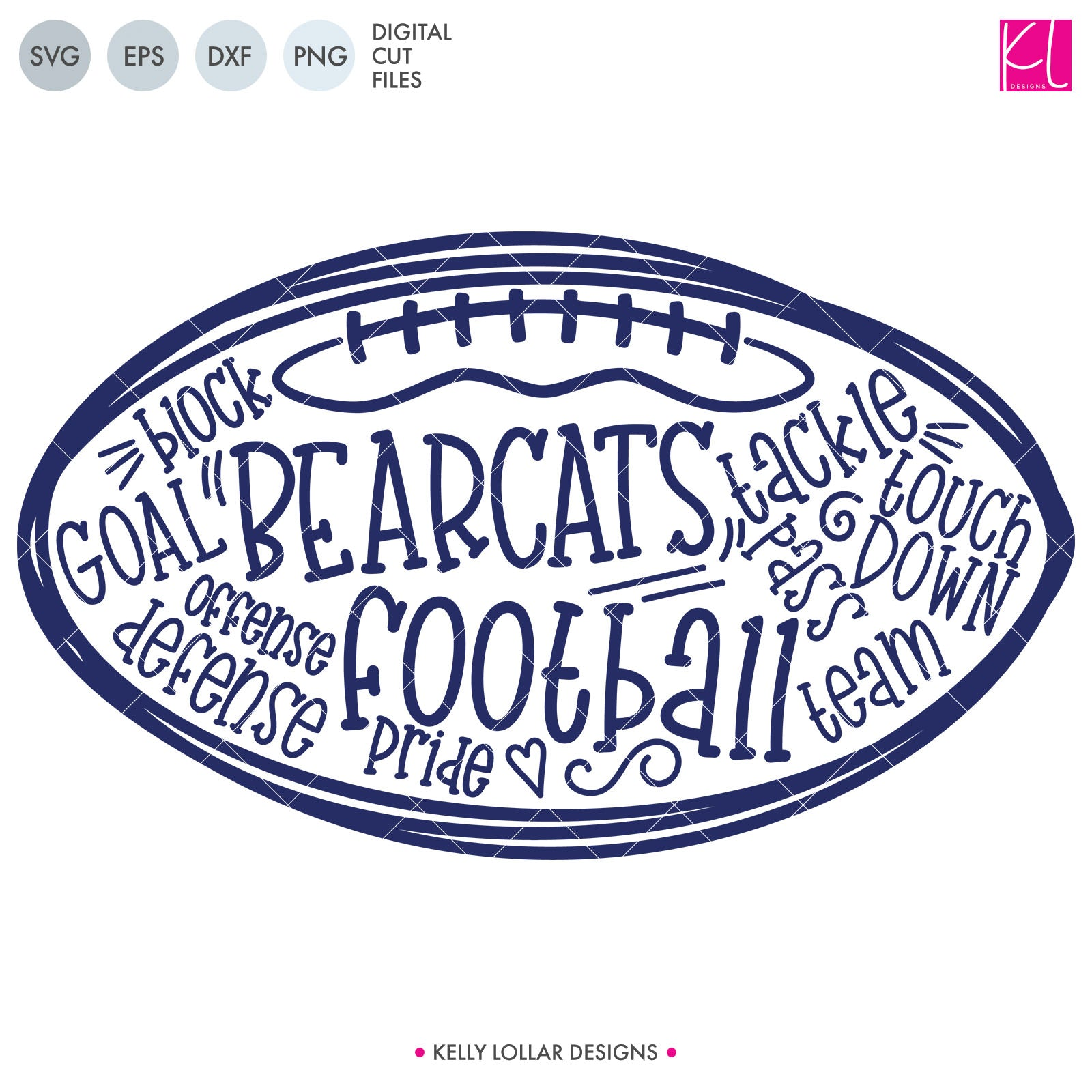 Bearcats Football Bundle | SVG DXF EPS PNG Cut Files This fifteen piece Bearcat Football Bundle was created with school crafters in mind. Create an assortment of spirit shirts with choices ranging from family designs to monograms to classic. 15