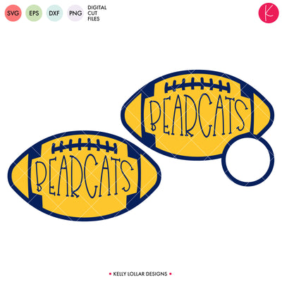 Bearcats Football Bundle | SVG DXF EPS PNG Cut Files