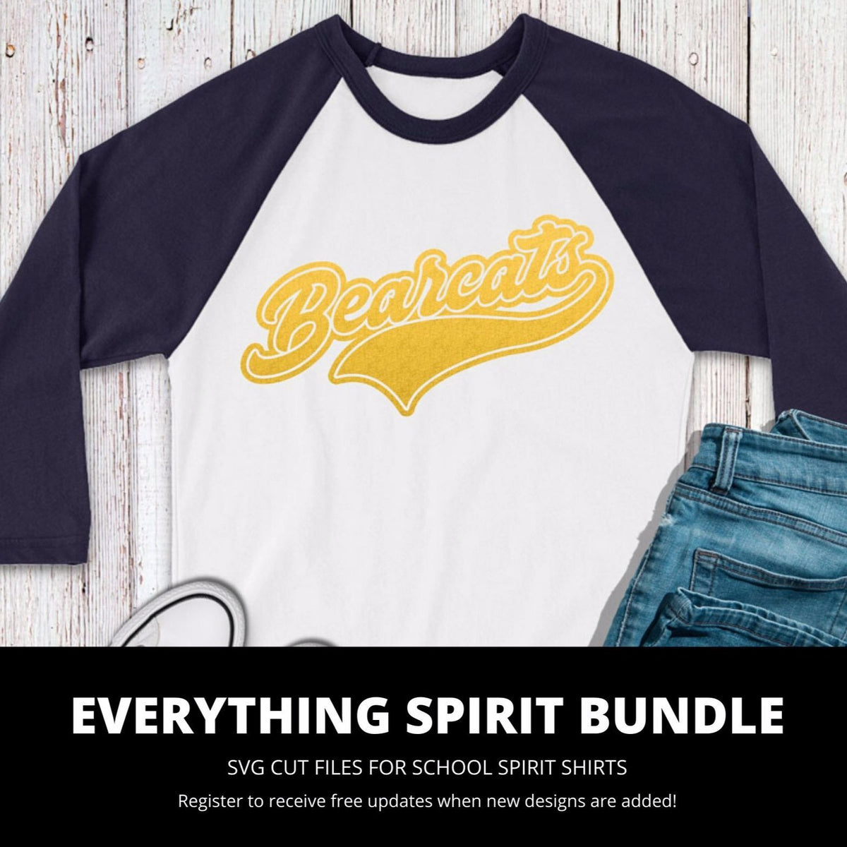 Bearcats Everything Spirit Bundle | SVG DXF EPS PNG Cut Files