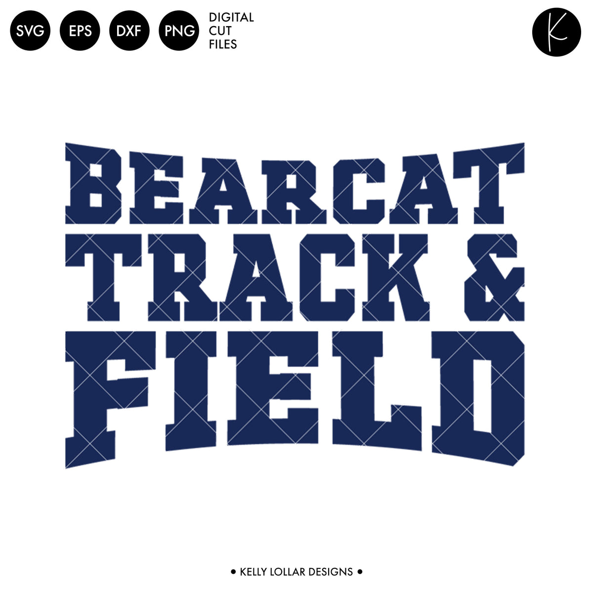 Bearcats Track & Field Bundle | SVG DXF EPS PNG Cut Files