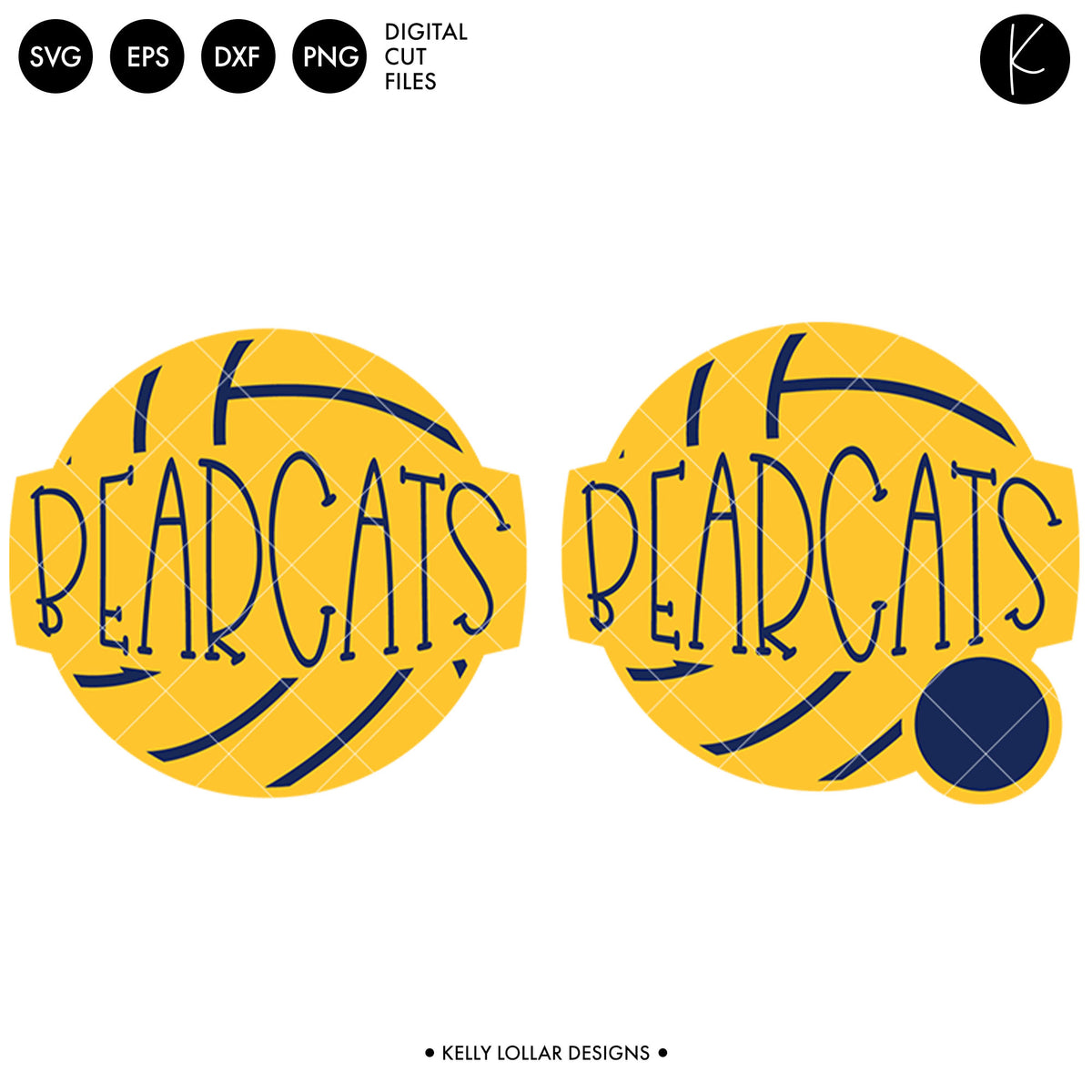 Bearcats Volleyball Bundle | SVG DXF EPS PNG Cut Files