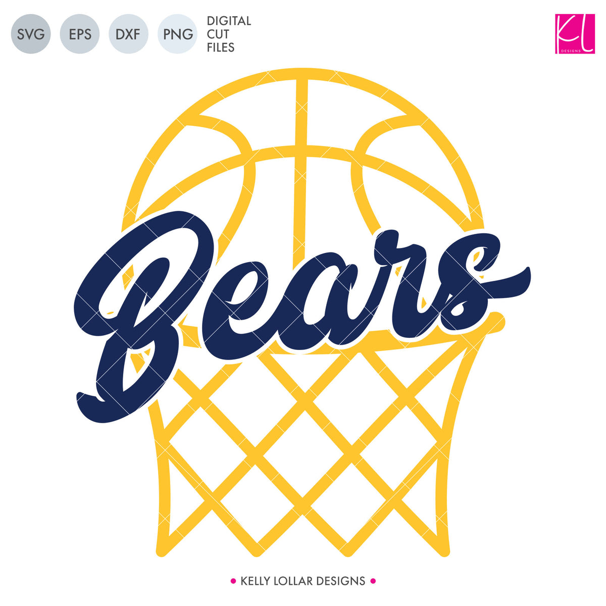 Bears Basketball Bundle | SVG DXF EPS PNG Cut Files
