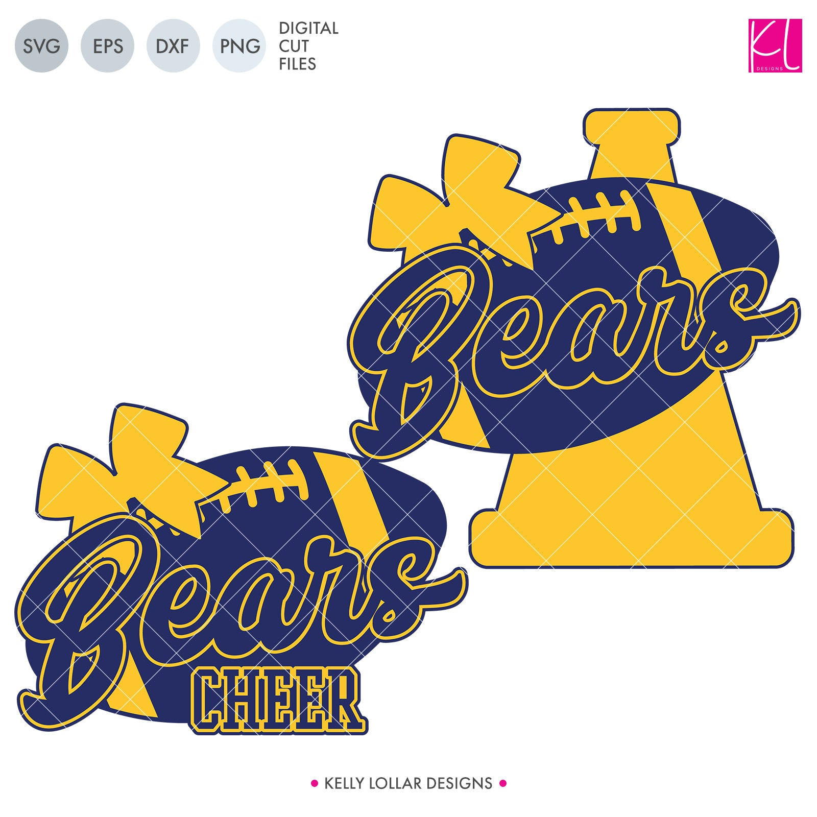 Bears Football Bundle | SVG DXF EPS PNG Cut Files This fifteen piece Bear Football Bundle was created with school crafters in mind. Create an assortment of spirit shirts with choices ranging from family designs to monograms to classic. 15
