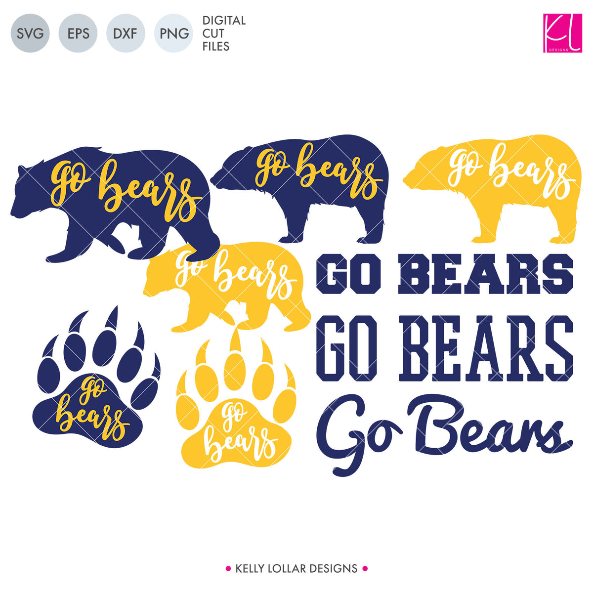 Bears Mascot Bundle | SVG DXF EPS PNG Cut Files
