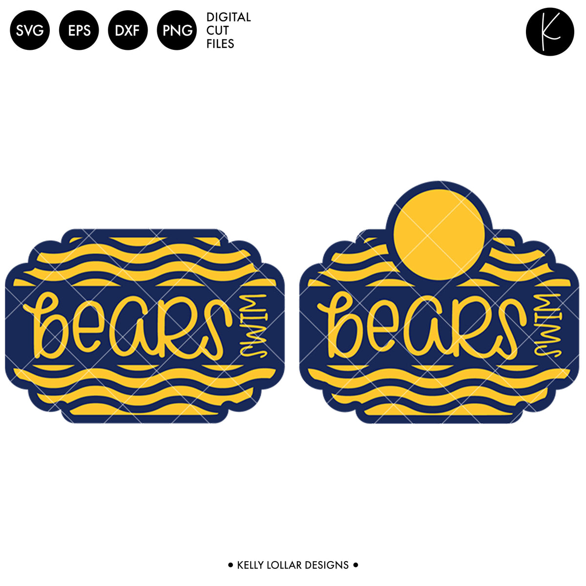 Bears Swim Bundle | SVG DXF EPS PNG Cut Files