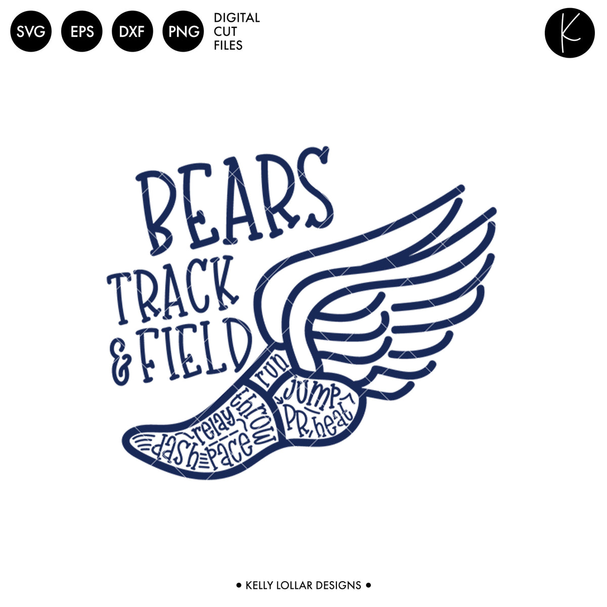 Bears Track & Field Bundle | SVG DXF EPS PNG Cut Files