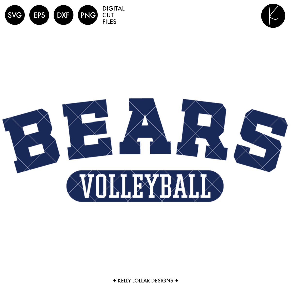 Bears Volleyball Bundle | SVG DXF EPS PNG Cut Files