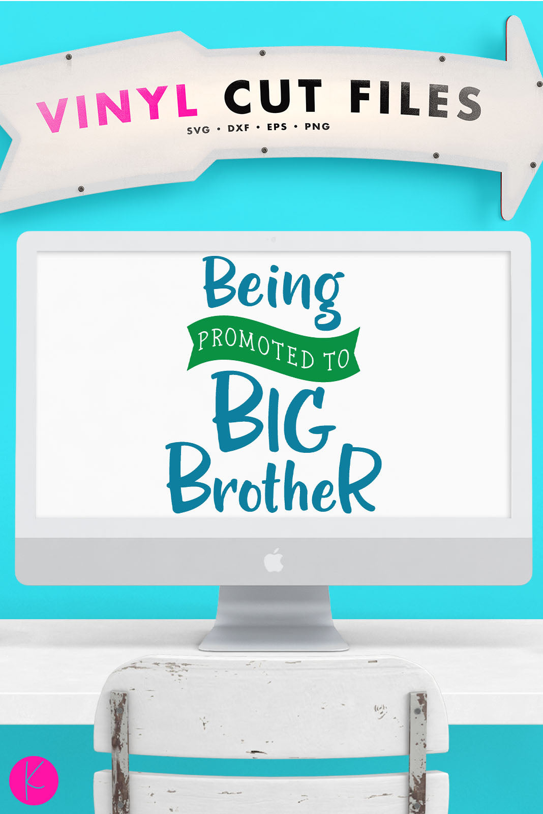 Being Promoted to Big Brother | SVG DXF EPS PNG Cut Files